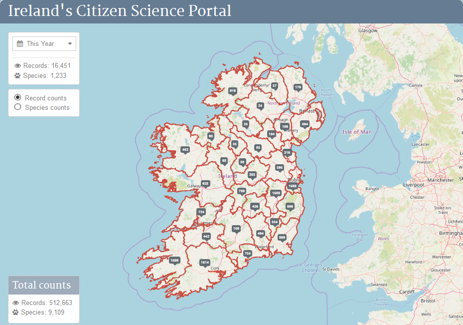 Ireland's Citizen Science Portal